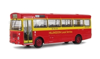 "Bristol LH (ECW) s/deck bus in red livery ""Hillington Local Service"""
