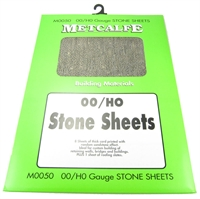 Sandstone-effect thick card sheets x 8. Plus 1 sheet of roofing slates