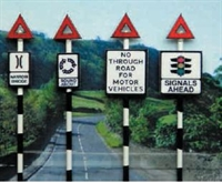 Pre 1960's Road Signs set 5