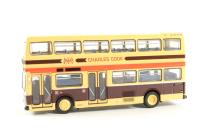 """Scania Metropolitan d/deck bus in yellow & blue livery """"Charles Cook"""", Cambridgeshire. Alternate route to N6208A - Pre-owned - sold as seen - missing wiper"""