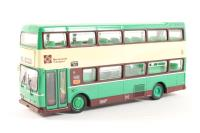 """Scania Metropolitan d/deck bus in jonquil green,cream and brown """"Merseyside PTE"""" - Pre-owned - poor box, missing wing mirror"""