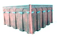 Brick retaining walls - Sloped: Pack 1 (between Levels 1 and 2) - Lyddle End Range