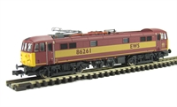 Class 86 Bo-Bo Electric 86261 EWS with new style Brecknell Willis panto