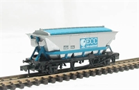 "CDA china clay hopper wagon in silver & blue ""ECC"" livery"