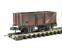 BR Butterley steel coal wagon in bauxite - weathered
