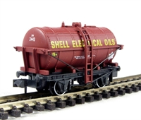 Tank wagon 'Shell Electrical Oils' in maroon