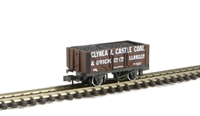 7 plank wagon Glynea & Caslte Llanelli 178 with coal load