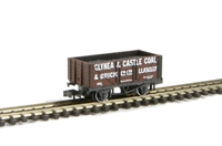 "7 plank wagon ""Glynea & Caslte Llanelli 197"" with coal load"