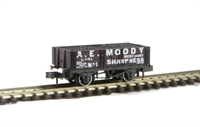 "5 plank wagon ""A.E Moody of Sharpness, Gloucstershire"" with coal load"