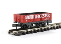 "5 plank open wagon ""South Leicester No.54"" in red with white lettering"