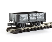 "5 plank open wagon ""Edwin W Badland, Birmingham No.48"" in grey with white lettering"