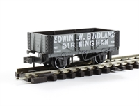 "5 plank open wagon ""Edwin W Badland, Birmingham No.52"" in grey with white lettering"