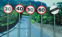 Modern Road Signs - Speed Limit signs