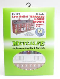 Low Relief Terraced House Fronts - red brick