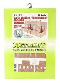 Low Relief Terrraced House Backs - red brick