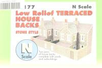 Low Relief Terraced House Backs - stone - Pre-owned - Like new