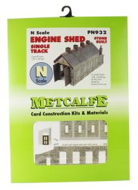 Single track engine shed - stone (130 x 47mm footprint)
