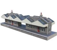 Pair of island station buildings (Card Kit)