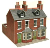 Pair of red brick terraced houses (Card Kit)