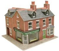 Red brick corner shop (Card Kit)