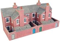 Low relief terrace house backs - red brick