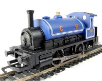 Caledonian Railway 0-4-0 steam locomotive in blue. Railroad range
