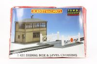 Signal box & level crossing plastic kit - Pre-owned - sold as seen - Missing walls