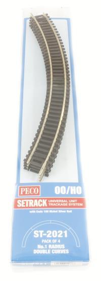1st radius Double Curve Track (ST-221 x 4)