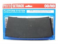 Setrack curved platform (Stone)