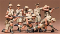 British 8th Army infantry - 8 figures in desert uniform in various poses
