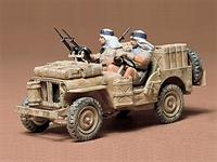 British SAS (Special Air Service) Jeep with 2 figures in desert uniform