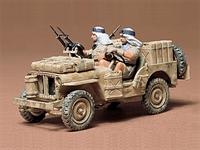 British SAS (Special Air Service) Jeep with 2 figures in desert uniform