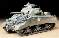 US M4 Sherman medium tank early production with figure & equipment