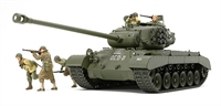 T26 E4 Super Pershing with 2 crew and 3 infantry figures