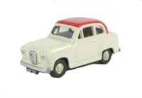 Austin A30 2-door saloon Off White with red roof
