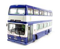 "Scania Metropolitan d/deck bus in blue & white ""Hull Corporation"""