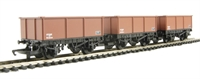 BR Brown mineral wagon x 3 (Railroad Range)